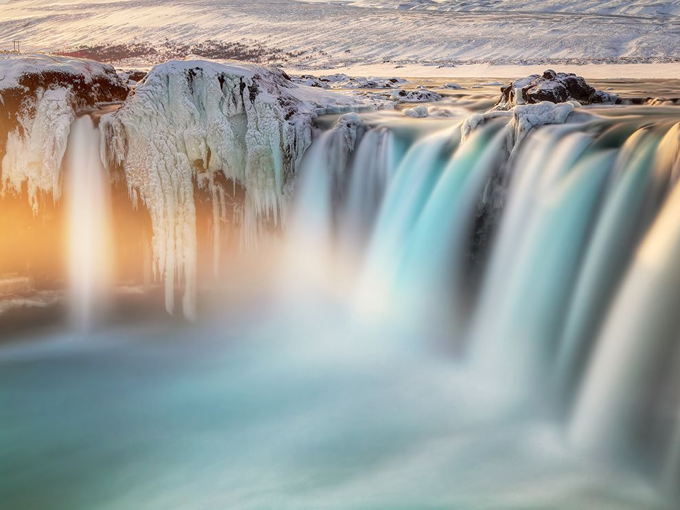 Picture of Goðafoss, a waterfall in Iceland