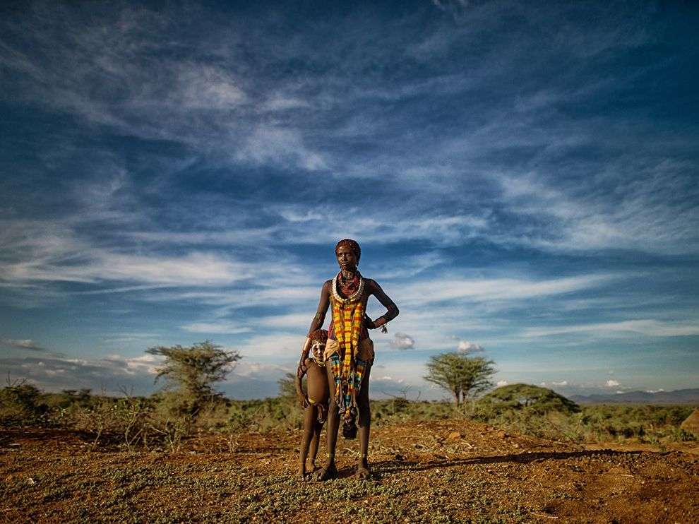 Picture of a Hamar woman and child in the Omo Valley of Ethiopia