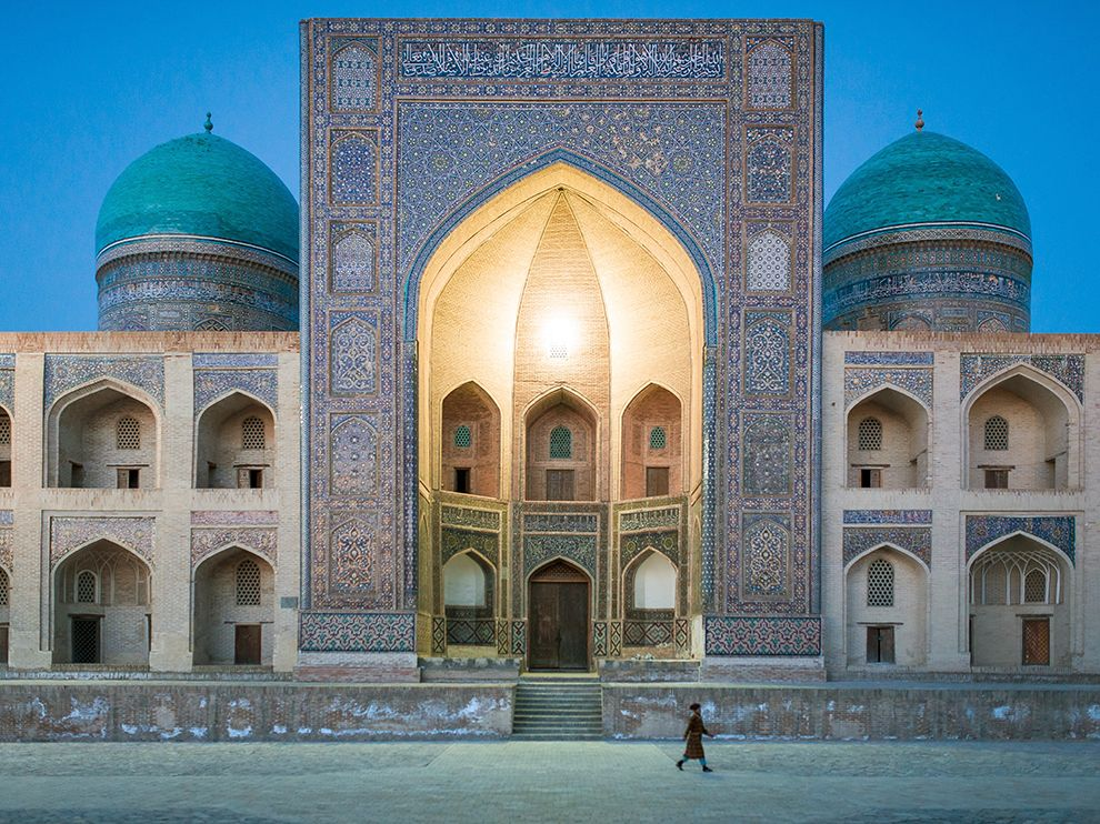 Picture of a mosque in Bukhara, Uzbekistan