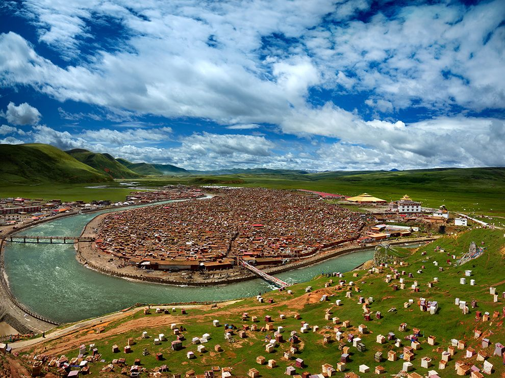 Picture of the Yaqing Temple, Garze Tibetan Autonomous Prefecture, China